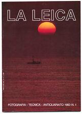 """G.Rogliatti """"La Leica"""" famosa rivista trimestrale N.1 del 1982   E495 BIS"""