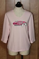WOMEN'S BEAUTY & THE BEACH LONG SLEEVE SHIRT-SIZE: LARGE