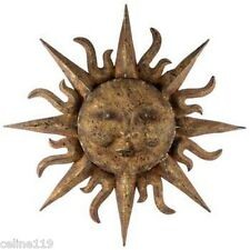 NEW. Unique Large Sunburst Metal Sun Wall Art Face Decor Indoor Outdoor 30""