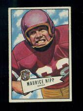1952 Bowman Small Football Card, #107, Maurice Nipp, Philadelphia Eagles, VG+!