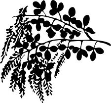This is a leaves plant  vinyl cut sticker or decal many colors to choose from.