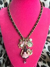 Betsey Johnson Vintage School Of Dance Swan Ballet Slippers Ballerina Necklace