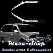 Chrome Door Window Vent Visor Deflector for 98~05 Kia Sedona/Carnival