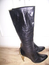 Ladies Black Leather Boots by KG size 5