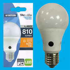 1x 10W = 60W LED GLS Dusk Till Dawn Sensor Security Night Light Bulb ES E27 Lamp