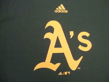 MLB oakland A's Athletics adidas climalite T Shirt YOUTH L adult M