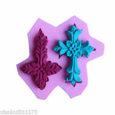 New Silicone Fondant Cake Mold Mould Cross Flexible Chocolate Candy Cookie