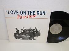 "PASSIONE Love On The Run 12"" single Pure Blend PB-440 (1987) NM ps"