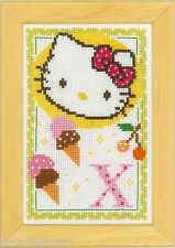 Vervaco  0149597  Kit Point de Croix Compté Alphabet © Hello Kitty - Lettre X