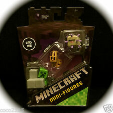 MINECRAFT Obsidian Series 4 Mini-Figures 3 Pack Guardian-Rabbit-Sneaky Creeper