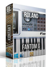 ROLAND FANTOM G KONTAKT LOGIC PRO X WAV 66 GB 15 DVD's ENTIRE SOUND LIBRARY 2016