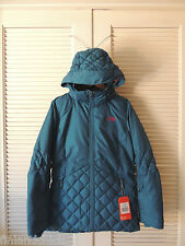 NORTH FACE JUNIPER TEAL CASPIAN HOODED 550 DOWN SKI JACKET PARKA,  MEDIUM ~NWT