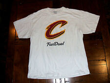 Cleveland Cavaliers Fan Duel Fantasy Sports White Large T-Shirt CAVS EXC