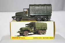 1960's Dinky #809 GMC Military Troop Carrier, Nice with Original Box