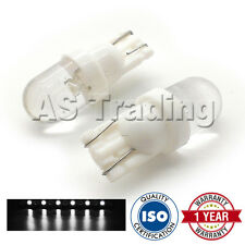 2X WHITE W5W 501 SIDELIGHT NUMBER PLATE INTERIOR REPEATER DOME LED BULBS