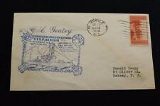 NAVAL COVER 1934 MACHINE CANCEL PORT CALL MOBILE USS RALEIGH (CL-7) (1616)