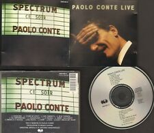 PAOLO CONTE LIVE 13 track CD 12 page LYRICS 4 Languages