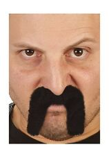 Black Fu Man Chu or Cowboy Moustache Asian Mustache Facial Hair Fu Manchu NEW