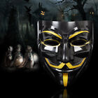 V for Vendetta Guy Fawkes Mask Anonymous Halloween Cosplay Fancy Dress Costumes