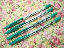 4pcs PILOT BP-S 0.7mm fine ball point pen /with cap Green ink(Japan)