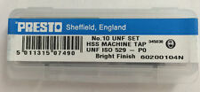 Presto UK No.10 HSS UNF Set of 3 taps / Direct from RDGTools