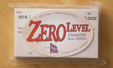 ZERO LEVEL Character Funnel Cards — DUNGEON CRAWL CLASSICS — 50 cards! — DCC RPG