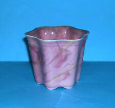 Vintage Wardle Art Pottery - Attractive Art Deco Pink Marbling Wavy Design Bowl