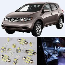 14×White Interior LED Light Bulbs Package Kit for Nissan Murano 2003-2008