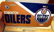 Edmonton Oilers NHL hockey team Plastic License Plate, made in the USA