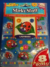 Ladybugs Insect Animal Girls Kids Birthday Favor Sticky Stuff Scrapbook Stickers