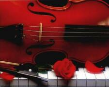 Violin, Piano and Roses: 10x8 In. Photo-Art Print/Mini Poster