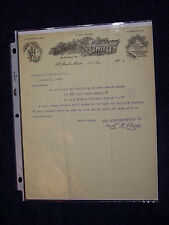 WESTERN SUPPLY CO. OF ST. PAUL 1904 LETTERHEAD  PUMPS PIPES STEAM GAS FITTINGS