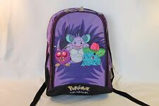 Pokemon Classic Official Backpack Bag Purple Bulbasaur Nidoking Venonat Go