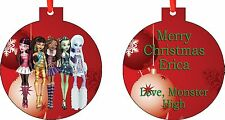 Personalized Monster High Ornament ( Add Any Message You Want)