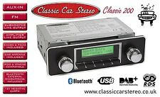 Classic Car Radio DAB+/ FM RDS / Bluetooth / USB / Aux in / iPhone