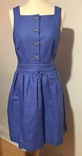 NWT J. Crew linen cotton sky blue sleeveless jumper summer dress sz 10 $200!