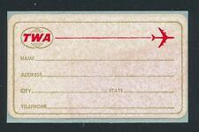 83124) Luftpost Vignette Air Mail label, TWA Gepäckaufkleber