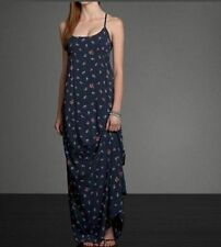 NWT Abercrombie & Fitch Women's Floral blue Cute dress Back detail XS New maxi