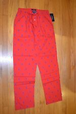 Men's Polo Ralph Lauren Sleepwear Red Pajamas Pants Size: Small New With Tag!