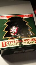 1992 COCA-COLA BOTTLING WORKS ELF STUCK IN A COKE GLASS ORNAMENT