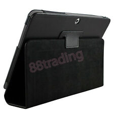 BLACK FLIP LEATHER CASE COVER for SAMSUNG GALAXY TAB 2 10.1 P5100 P5110