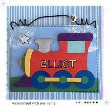 Train Door Sign PERSONALISED Name Handmade Wood Boys Childs Door Sign Plaque RED