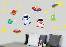 Childrens Space Pack - Pack of 16 Wall Stickers Astronauts Planets Stars Aliens