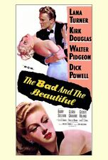 THE BAD AND THE BEAUTIFUL Movie POSTER 27x40 Kirk Douglas Lana Turner Dick