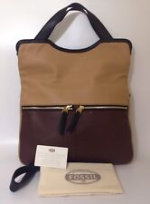 BNWT Fossil Erin Tote Bag Leather RRP £169 Brown