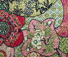 "Cotton Upholstery Fabric House 'N Home Colorful Asian Floral, Paisley 56"" W BTY"