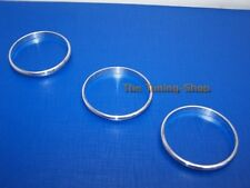 FOR VW CC PASSAT B7 GOLF PLUS FACELIFT 10-15 CHROME MANUAL A/C HEATER TRIM RINGS