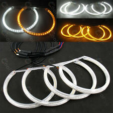 4X Dual color SMD LED ANGEL EYE HALO RING DRL light Lamp for BMW E36 E38 E39 E46
