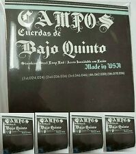4 PACK Bajo Quinto Stainless steel - Cuerdas de  Acero inoxidable US made