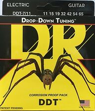 DR DDT7/11 Electric Guitar Strings drop down tuning 7-String set 11-65